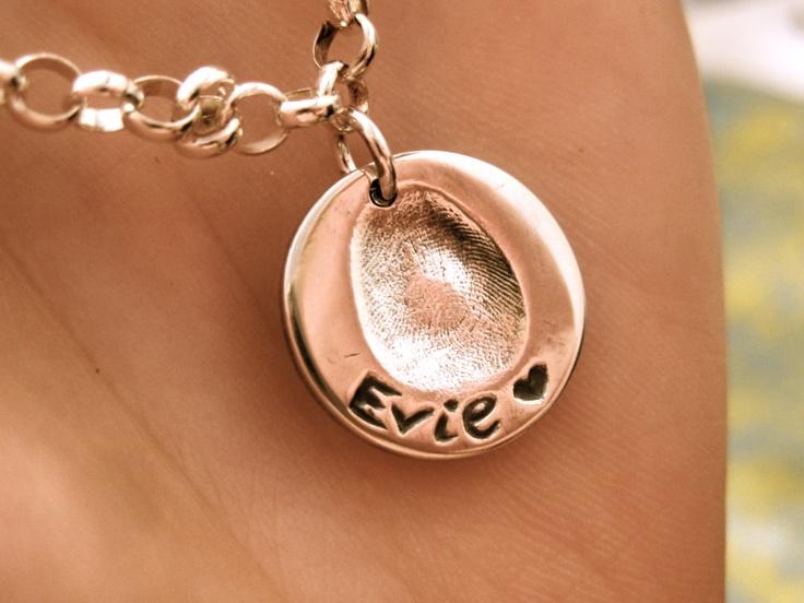Fine Silver Fingerprint Jewellery - Pure Charm Jewellery - Silver Fingerprint Jewellery & Keepsake Jewellery