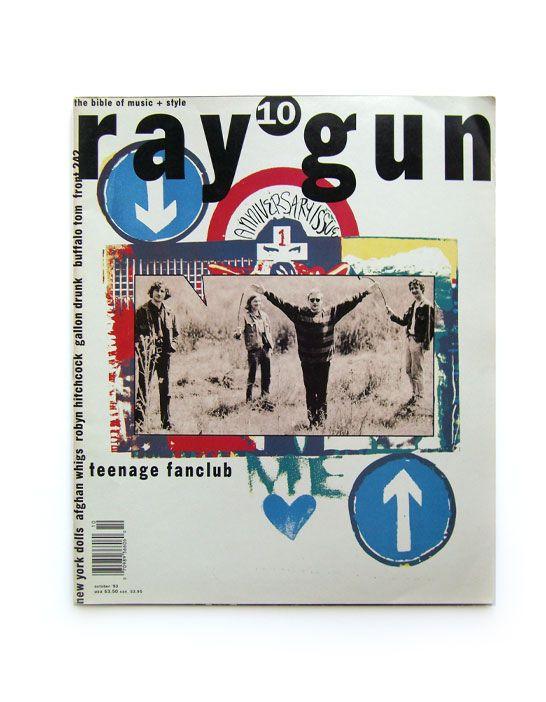 "David Carson (designer), Ray Gun cover #10 ""Teenage Fanclub"", October 1993."