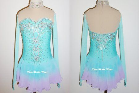 COMPETITION DRESS TS620 [TS620] - $159.95 :: Tina's Skate Wear - Custom Make-to-Fit Skating Dresss, Figure Skating Dresses, Baton Twirling/Dance Costumes.
