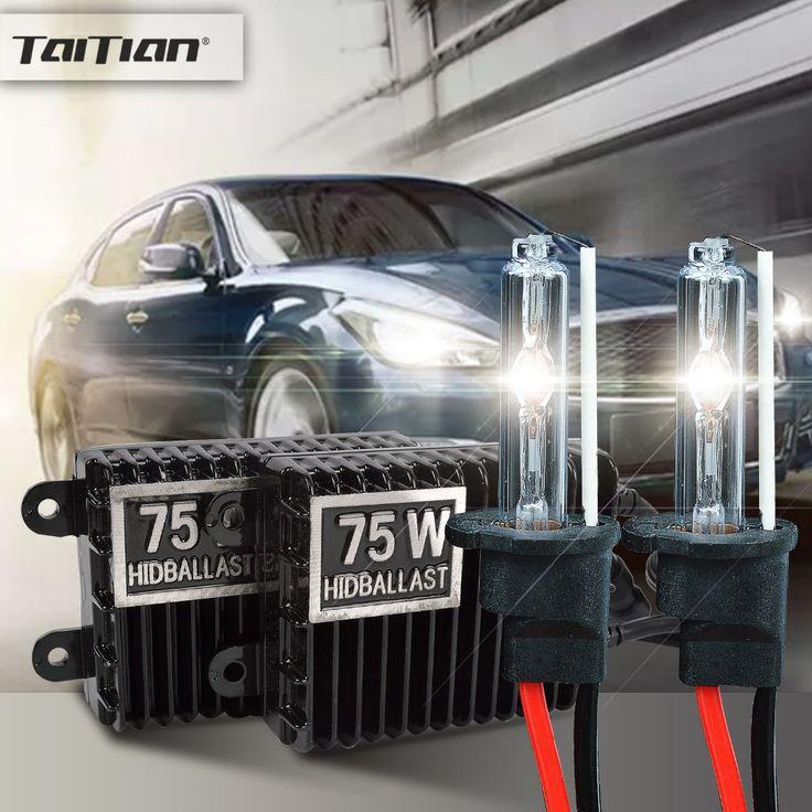 2PC 75W Hid Xenon ballast+55W Xenon Light 12V 6000K h7 hid xenon bulb headlight kit bixenon Canbus h1 H3 fog light 9005 hb3 bulb