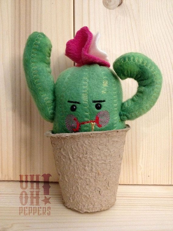PLUSH  Ornery Cactus  Saguaro Cactus by UhOhPEPPERS on Etsy, $20.25