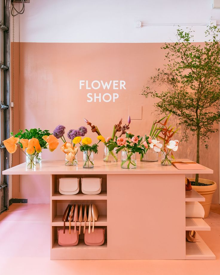 """MANSUR GAVRIEL, New York, """"The Flower Shop... Now Open"""", photo by The Fashion Display, pinned by Ton van der Veer"""
