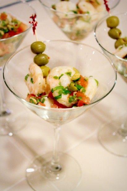 Shrimp martini appetizer