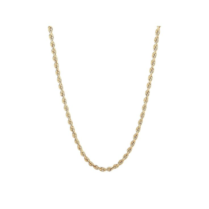 """Everlasting Gold 14k Gold Rope Chain Necklace, Women's, Size: 18"""""""