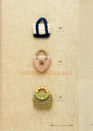 miniature purses to crochet