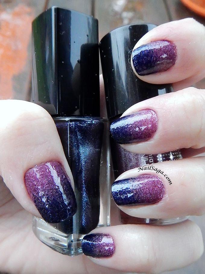 Purple gradient nail design