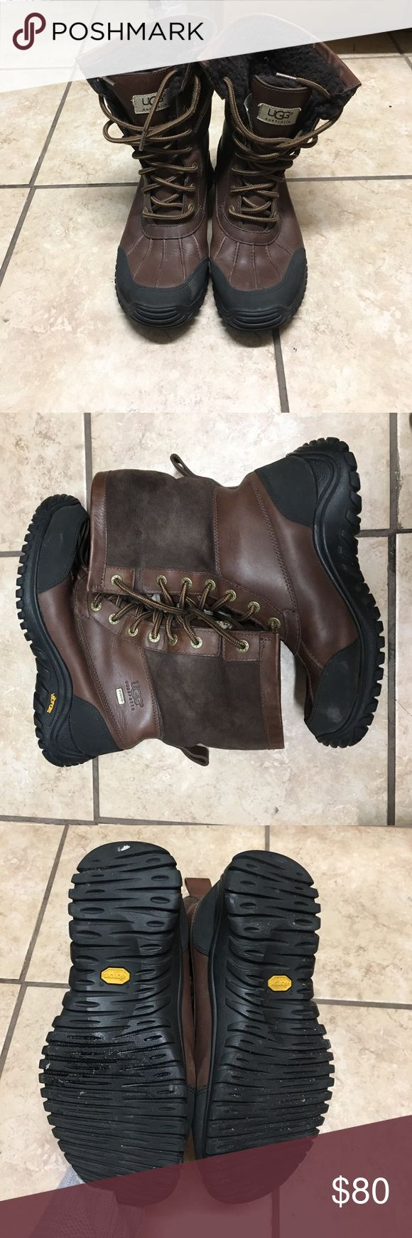 Ugg Adirondack boots. Normal wear and marks from moderate usage. Still in great condition, no odor. UGG Shoes Winter & Rain Boots