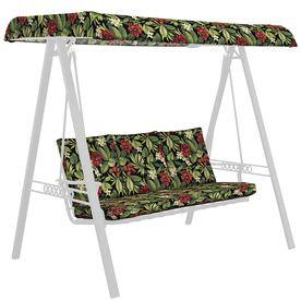 Garden Treasures Sanibel Black Tropical Cushion For Glider Af09l01x