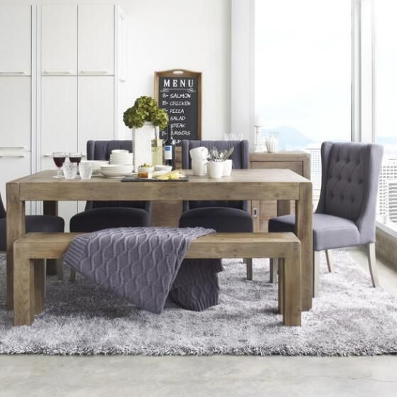 Post Amp Rail Rect Dining Table Driftwood 2 House Ideas