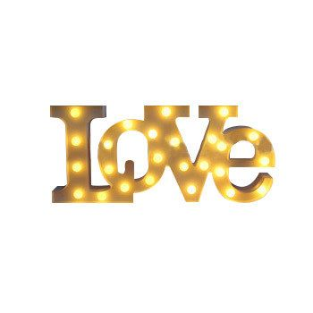 """""""AMOR"""" LED VERMELHO Sinal Marquise LUZ UP Vintage Adesivo carta forma do amor Dia dos namorados luz de Plástico Interior queda de potência"""