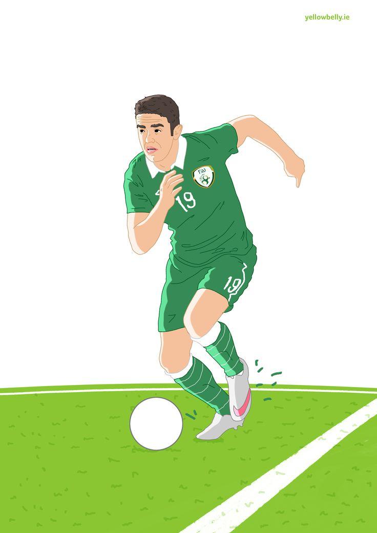 Robbie Brady, Republic of Ireland, FAI, Football, Soccer, Norwich, Euro, FIFA, Illustration, Poster,