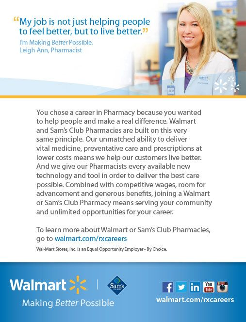 98 best Careers in Pharmacy images on Pinterest Health care - walmart careers