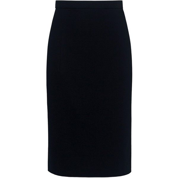 Theory - HEMDALL Pencil Skirt (£145) ❤ liked on Polyvore featuring skirts, theory skirt, travel skirt, knee length pencil skirt and pencil skirt