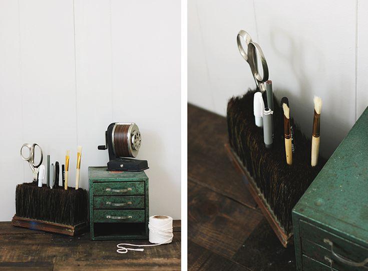 DIY Broom Head Pencil Holder - simple craft idea