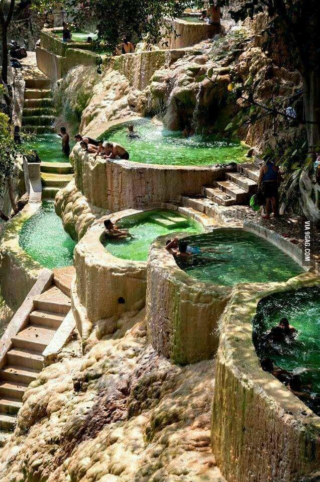 """Great place for a weekend trip.. """"Grutas de Tolantongo"""" Hidalgo estate in Mexico"""