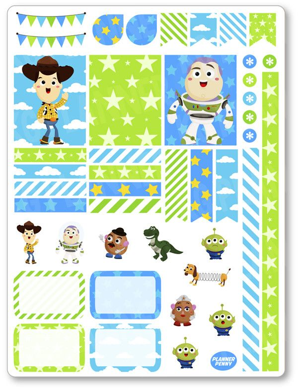 Toys Decorating Kit / Weekly Spread Planner Stickers