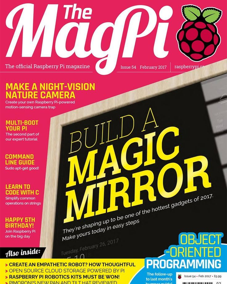 Check out the latest issue of the MagPi Magazine. It features an 11 page cover story about my #MagicMirror project: https://www.raspberrypi.org/magpi/issues/54/ #magpi #raspberrypi #magazine #pi #magicmirror #issue #howto #guide #tutorial...