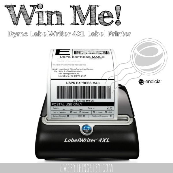 If you've been wanting to simplify your life with a dedicated label printer for all of your shipping and postage needs, this is your chance!  We're Giving Away a LabelWriter 4XL Label Printer! #etsy #shipping #giveaway