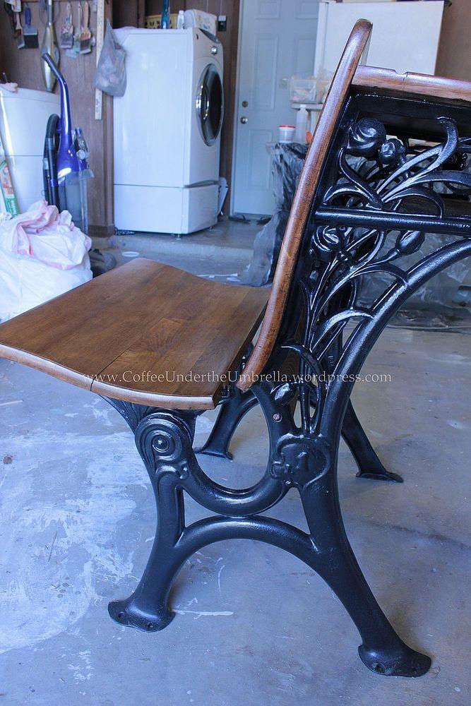 Restoring an old school desk