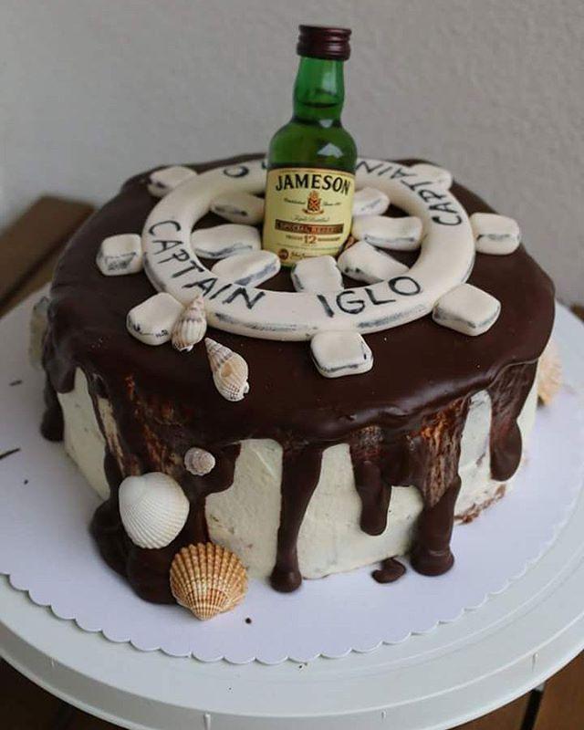 #chocolate #cake #jameson #captain #baking #hobby #homemade #rum #birthday #birthdaycake #whiskey #sea #sweetlife