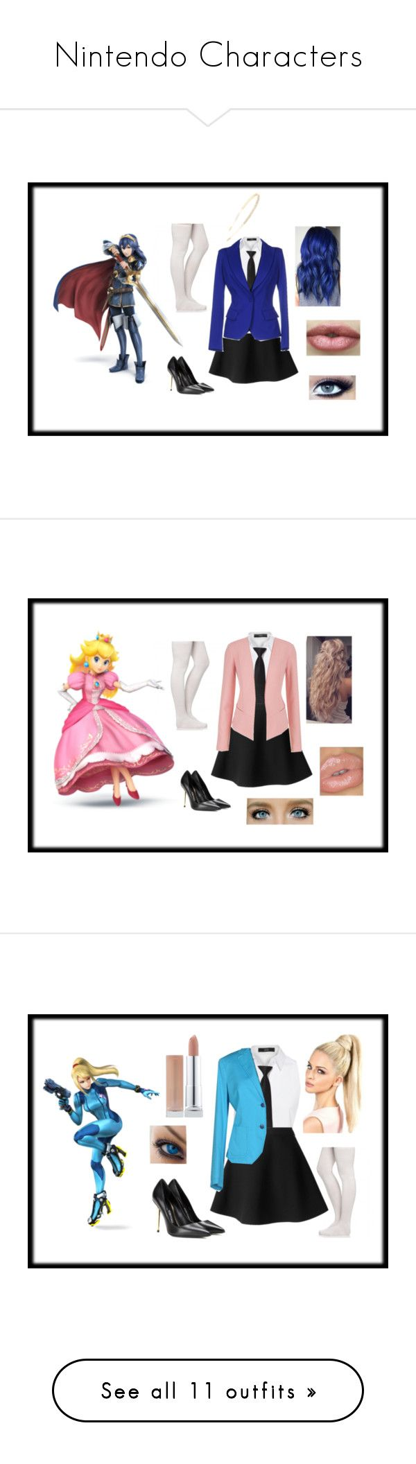 """""""Nintendo Characters"""" by lovelyloser105 ❤ liked on Polyvore featuring MSGM, Steffen Schraut, Nintendo, Plein Sud, Ultimate, Tom Ford, Cara, maurices, Manuel Ritz and ESCADA"""