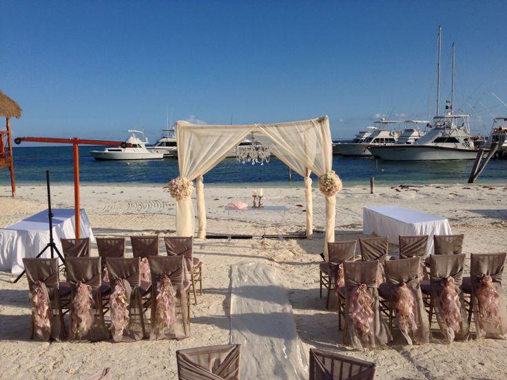 Sample beach setup for ceremony