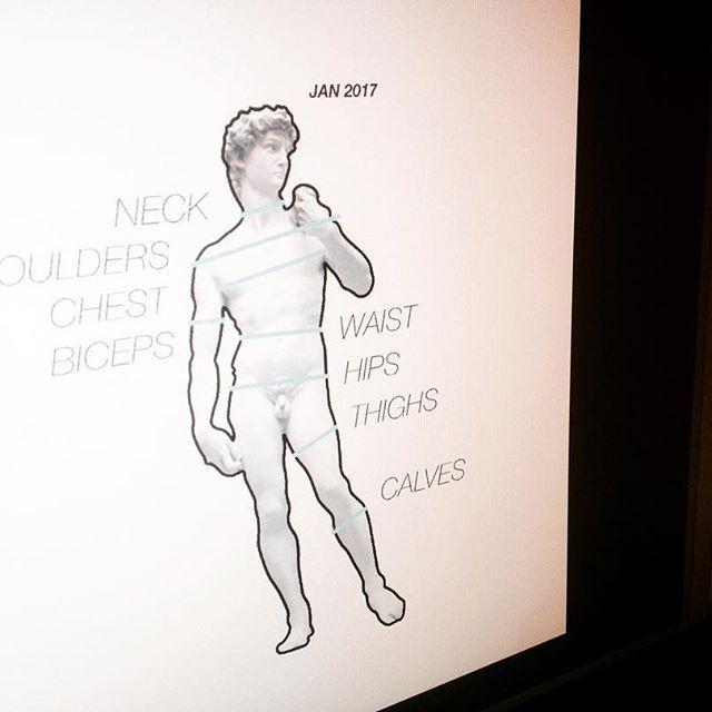 """Процесс работы над инфо-иллюстрацией, смысл которой заключается в обозначении мест, в которых стоит производить замеры обхватов указанных частей тела. Базой для отрисовки изображения является фотография скульптуры Микеланджело """"Давид"""". #illustration #infographic #fitness #alexeyluckily"""