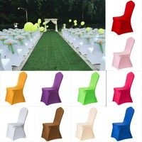 Wish | 1 Piece Polyester Spandex Dining Chair Covers For Wedding Party Chair Cover Brown Dining Chair Seat Covers V30