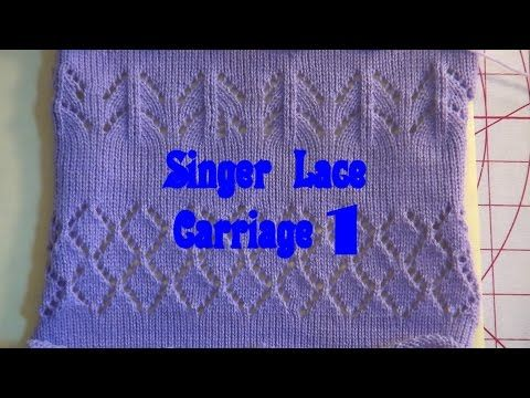 Singer Lace Carriage Brother Punchcard and Single Motif Lace - YouTube
