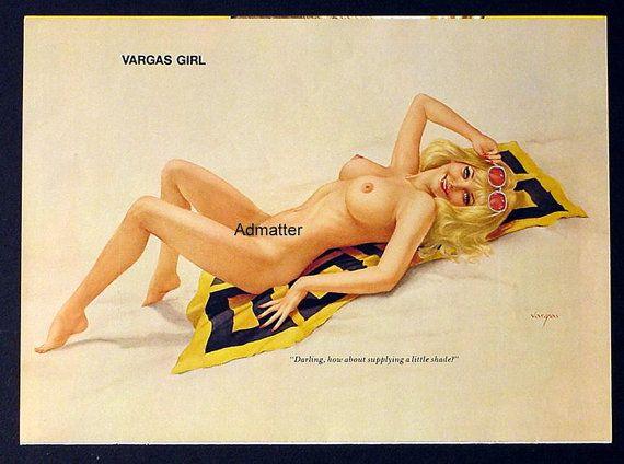 Vargas playboy pin up girls nude
