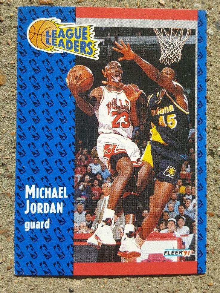 Michael jordan 1991 fleer league leaders 220 bulls