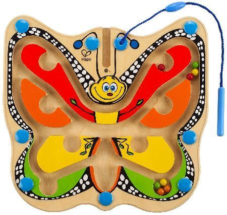 Hape Color Flutter Butterfly A magnetic wand coaxes marbles into the colorful wings of the Color Flutter Butterfly from Hape Toys. Measures approximately 9.6W x 9.25L x 0.8H... (Barcode EAN=6943478003927) http://www.MightGet.com/january-2017-12/hape-color-flutter-butterfly.asp