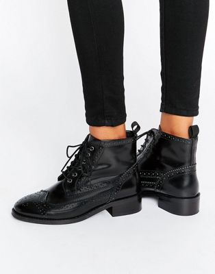 ASOS ARTISTRY Leather Lace Up Brogue Boots