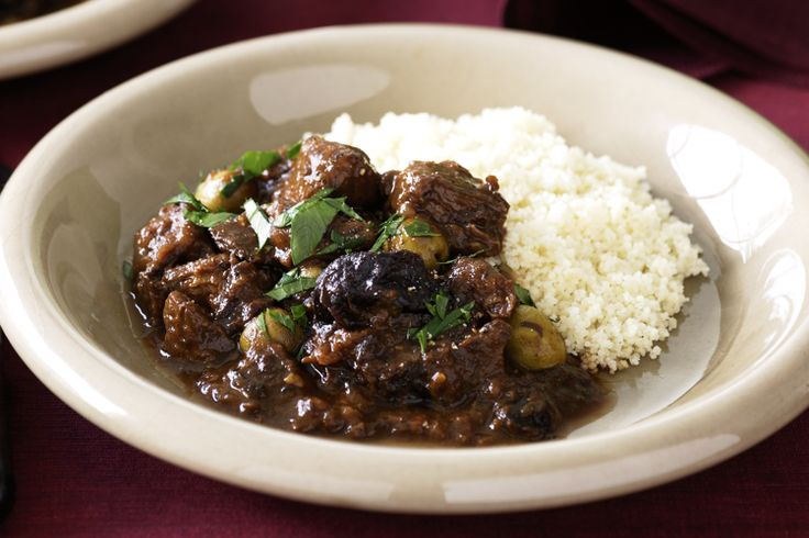 Prunes and oranges add sweetness and flavour to this traditional Moroccan tagine.