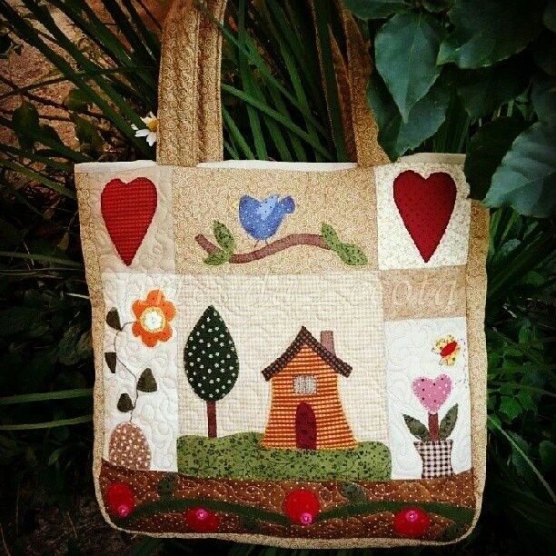 I love patchwork bags, so pin any that inspire me