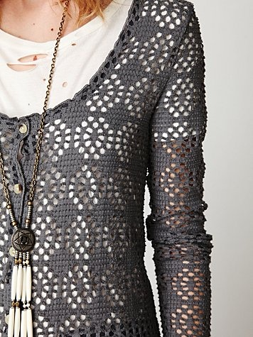 Crochet jacket from FreePeople - pinned for ideas