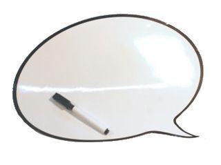 Pizarra Magnética con Forma de Globo de Diálogo