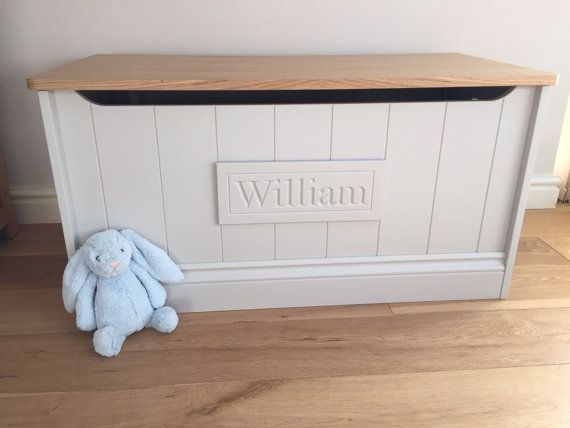 Personalised Toy Box toy box toy chest children's by AlmondAbode