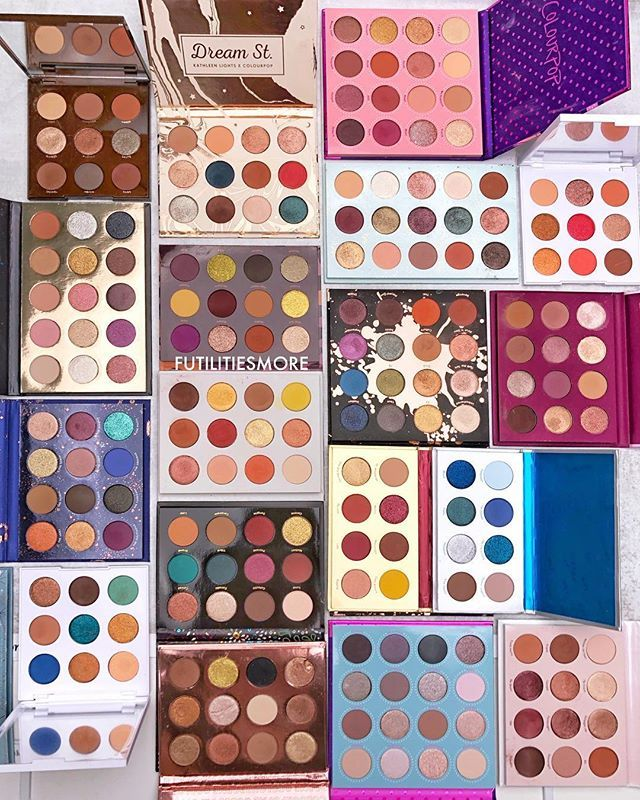 Image result for colourpop eyeshadow palettes flatlay