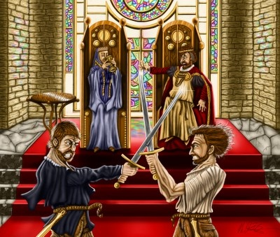 hamlet vs laertes Laertes is the son of polonius and brother of ophelia in william shakespeare's  popular play hamlet laertes spends most of his time away at.
