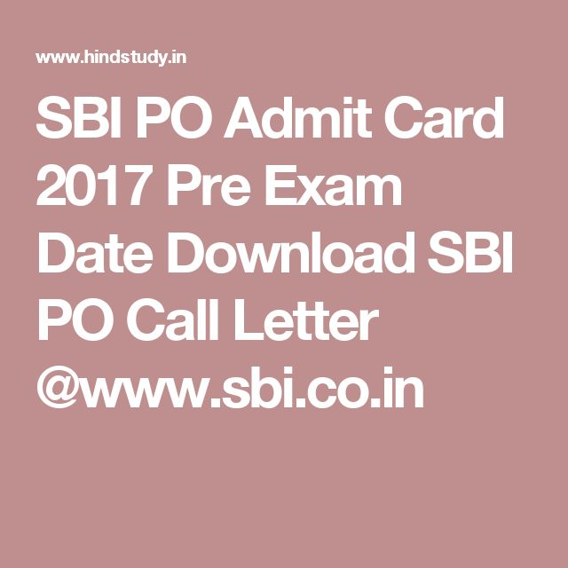 sbi po admit card 2014