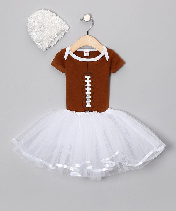 Take a look at this Babyball Clothing Brown Football Tutu Set - Infant on zulily today!
