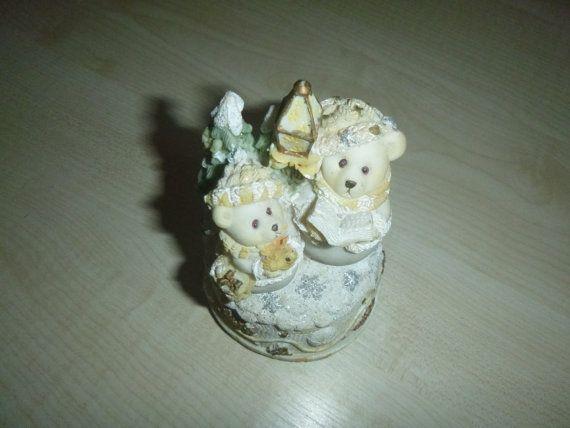 Vintage Music Box Bear Unusual Festive Ornament by getgiftideas