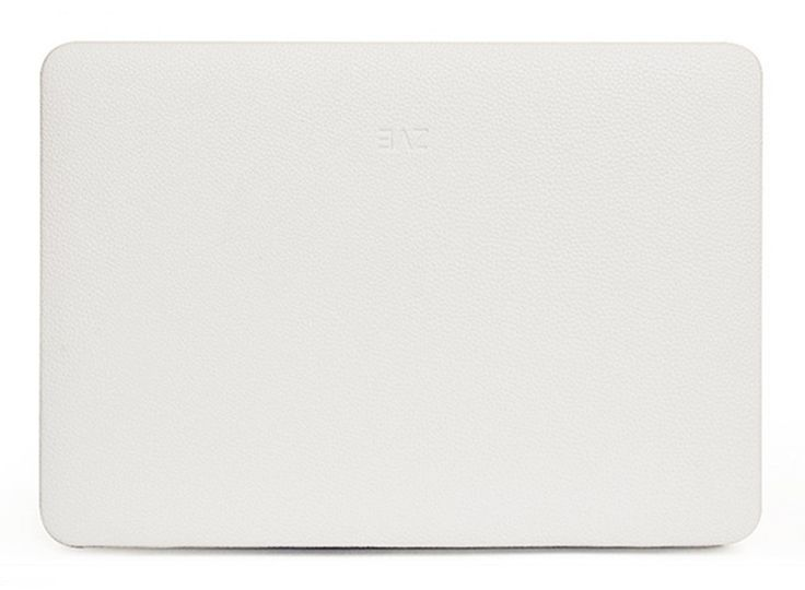 Second Skin Faux Leather Macbook Case in White