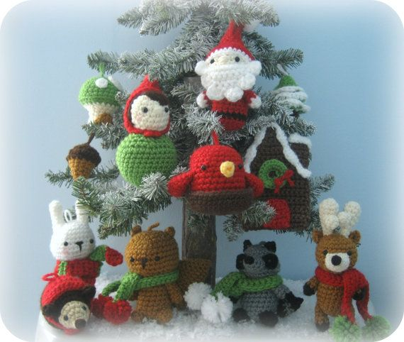Amigurumi Woodland Christmas Ornament Crochet Pattern by AmyGaines