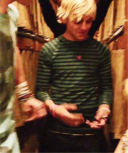 "haha the ""magic"" door...that didnt work (Look at his smile when it doesn't work-- ADORABLE!) #Ross"