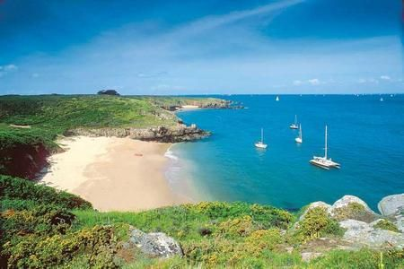 Pentrez Plage beach, Brittany, France