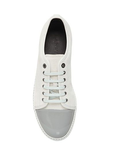 LANVIN - SUEDE & PATENT LEATHER SNEAKERS - LUISAVIAROMA - LUXURY SHOPPING WORLDWIDE SHIPPING - FLORENCE