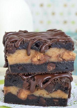 Chocolate Peanut Butter Cheesecake Cookie Bars