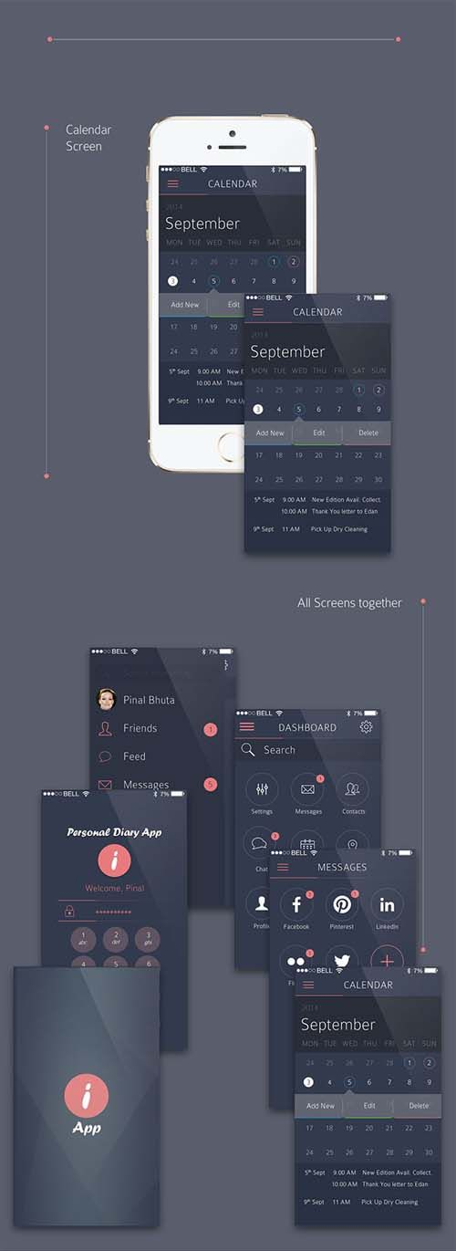 Personal Diary Iphone App